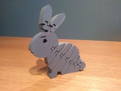 Easter Bunny 3D Printed. Easy print, no supports required. Articulated Flexi Easter Rabbit.