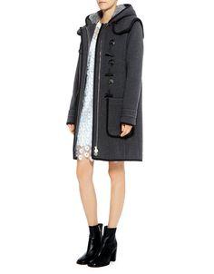 Carven Hooded Wool-blend Coat