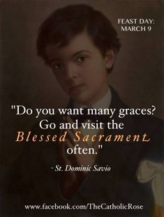 Make visits to the Blessed Sacrament, even if just for a few minutes.