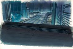 The Museum of Architectural Drawing in Berlin showcases the superb drawings of urban architecture made for a range of Japanese anime such as Ghost in the Shell. Meme Background, Animation Background, Scenery Background, Background Ideas, Architecture Background, House Illustration, Urban Architecture, Fictional World, Museum
