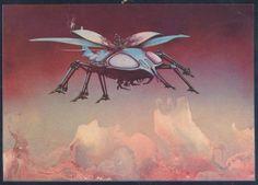 1980 Scarab postcard by Roger Dean by MicroBry, via Flickr