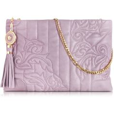 Versace Vanitas Mauve Leather Shoulder Bag found on Polyvore