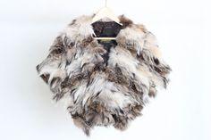 Étole en fourrure recyclée de lynx de la boutique ECOGRIFFE sur Etsy