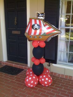 Pirate party balloon sculpture by The Paper Market!