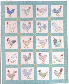 Rooster Applique Quilt