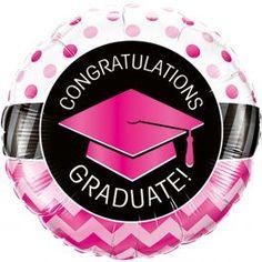 Geslaagd Folieballon Congratulations 46cm Graduation Balloons, Graduation Party Decor, Grad Parties, Congratulations Balloons, Congratulations Graduate, Chevron, Mylar Balloons, Gold Birthday, Party Stores