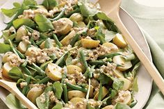 Find the recipe for Arugula, Potato, and Green Bean Salad with Walnut Dressing and other green bean recipes at Epicurious.com