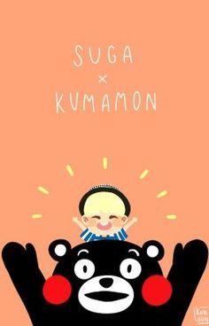 Suga and Kumamon wallpaper Jimin, Bts Bangtan Boy, Suga Chibi, K Pop, Wallpapers Kpop, Nice Wallpapers, Seokjin, Namjoon, Hoseok
