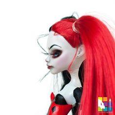 Harley Quinn looking for trouble!!!! . . . . #artdoll #colourtothebone #colour2thebone #customdoll #customrepaint #customooak #custommonsterhigh #create #doll #dollooak #etsy #etsyshop #etsyseller #reroot #monsterhighreroot #kindmonsters #mh #monsterhigh #monsterhighrepaint #monsterhighcustom #monsterhighooak #ooakdoll #ooakmonsterhigh #ooakcustom #ooakrepaint #repaint #tearsofcolour #ooak #harleyquinn #dccomics
