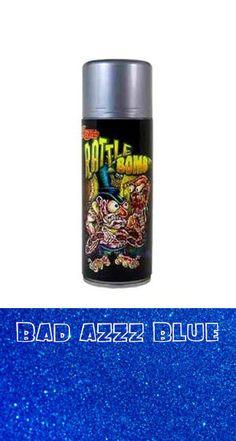 Lil Daddy Roth metal Flake Rattle Bomb Bad Azzz Blue glitter hot rod motorcycle #lildaddyroth