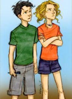 Lil Annabeth and lil Percy