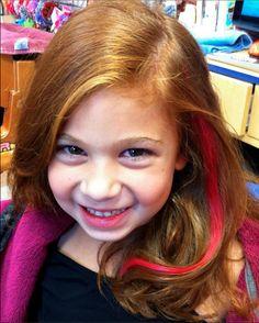 Pink hair for hope ~ Pink hair extension KidSnips.com