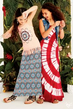 More fringe = more fun! Cute Girl Outfits, Cute Summer Outfits, Kids Outfits, Girls Dresses Tween, Tween Girls, Preteen Fashion, Kids Fashion, Middle School Fashion, Justice Stuff