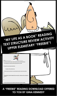 """FREE! """"MY LIFE AS A BOOK"""" CREATIVE WAY FOR YOUR STUDENTS TO PRACTICE IMPORTANT READING TEXT STRUCTURES! Reading Group Activities, Reading Groups, Reading Lessons, Teaching Reading, Teaching Resources, Teaching Ideas, 4th Grade Ela, Text Structures, Common Core Ela"""