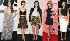 Jordana Brewster, Lily Collins, Olivia Munn, Taylor Swift, & Zoe Saldana.