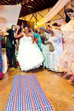 Liberian Wedding! Traditional Entrance of bride & groom --- #African #Liberia #Wedding #Lapa