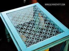 How to decorate your glass ~ like this table top