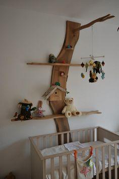 wandgestaltung babyzimmer vögelhäuschen wanddeko holz