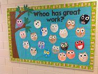 Great ideas for an owl themed classroom.