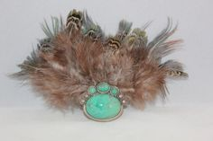 Feather Hair Accessories Turquoise Hair by FeatherLeatherNLace, $15.00