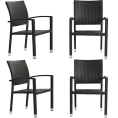 Shop 4 Bella Espresso Rattan Weave Aluminum Patio Chairs with great price, The Classy Home Furniture has the best selection of to choose from Plastic Patio Chairs, Wicker Patio Chairs, Metal Patio Furniture, Metal Dining Chairs, Lawn Chairs, Outdoor Dining Chairs, Rattan, Furniture Sets, Outdoor Living