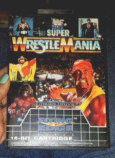 #sega mega drive super wrestlemania wwf game wrestling wwe tna wcw nwo hogan 1991 from $5.03
