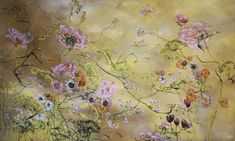At Home With: Artist & Painter, Claire Basler, Château de Beauvoir, France :: This Is Glamorous Art Floral, Claire Basler, Painting & Drawing, Watercolor Paintings, Floral Paintings, Butterfly Wallpaper, French Artists, Flower Art, Art Drawings
