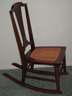 Wonderful Antique Cane Bottom Sewing Rocker. Rocking ChairRockersCanes