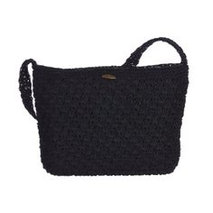 """Cappelli Straworld Inc Crochet Rayon Bag  Material:  Cotton Blend  Details:  Braided Handles, Lined, Inner Zip Pocket, 2-Open All Pockets. Zip Closure.  Size:  13""""W X 9""""H x 4""""B"""