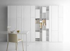 Random Box Bookcase - Bookcase White lacquered by MDF Italia