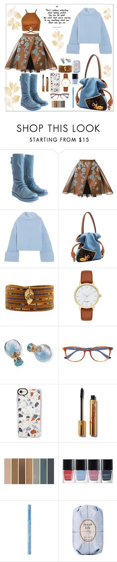 """These boots were made for walking"" by onenakedewe ❤ liked on Polyvore featuring John Fluevog, Delpozo, Jil Sander, Loewe, Chan Luu, Kate Spade, Lydell NYC, Ray-Ban, Casetify and Too Faced Cosmetics"