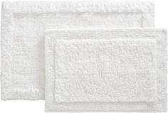 Ultra Spa White Bath Rugs    Crate and Barrel  In front of the shower - guest bath