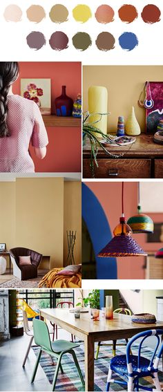 Entwine palette features saturated global-inspired colours that are deep, earthy and unique. Interiors colour trends for 2017. Dulux Colour Forecast.