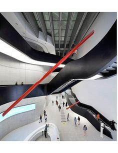 These sculptural steel staircases were completed in 2009 as part of architect Zaha Hadid's design for the MAXXI museum of contemporary art in Rome.
