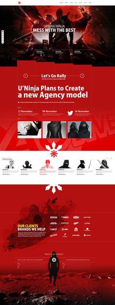 Cool Web Design, Urban Ninja. #webdesign #webdevelopment [http://www.pinterest.com/alfredchong/]