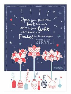 Bloemlezing Amaryllis- illustration Studio Sjoesjoe - mooiwatbloemendoen.nl