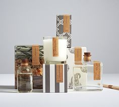 Pottery Barn Homescent Redesign — The Dieline - Branding & Packaging Candle Branding, Candle Packaging, Candle Labels, Soap Packaging, Brand Packaging, Simple Packaging, Design Packaging, Coffee Packaging, Bottle Packaging