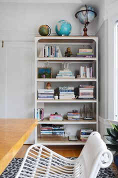 House Tour: A Collected & Tailored Boston Rental   Work surface ...
