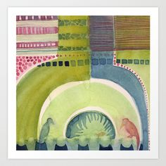 Water Art Print by Angela Deal Meanix - $16.00
