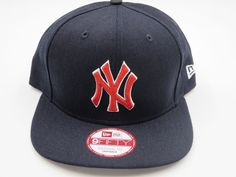 NY Yankees Black 9FIFTY MLB Authentic New Era Snapback Hat  NewEra… 490630b31ec0