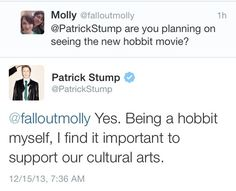 I love the fact that Patrick is becoming more comfortable with himself and is able to make jokes about his height