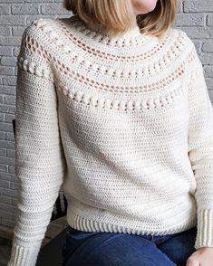 Crochet Sweater Pattern, Sweater Top Down, Pdf Pattern, Stroll Sweater, Sizes: xs-s-m-l-xl-xxl Crochet Jumper, Knit Crochet, Crochet Hats, Jumper Patterns, Cardigan Pattern, Crochet Patterns, Sweater Cardigan, Grunge Look, Grunge Style