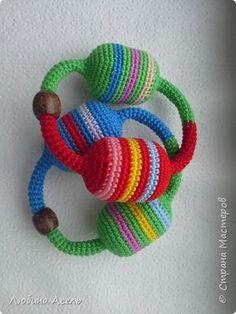 Игрушка Новый год Вязание крючком Вязаные погремушки крючком Пряжа фото 1