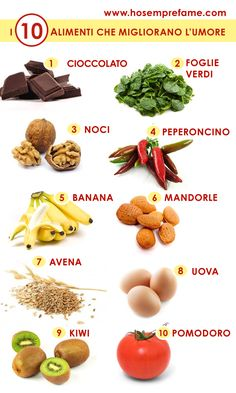 I 10 cibi che migliorano l'umore - Ricetta hosemprefame.com Healthy Tips, Healthy Recipes, Stay Healthy, Bio Food, Health And Wellness, Health Fitness, Keto Nutrition, Juice Plus, Recipes From Heaven