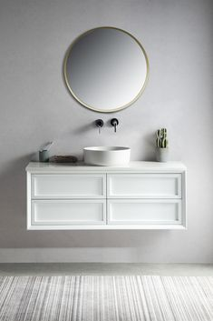 The Penley range of stunning contemporary wall hung vanities will surely make a statement in any master bathroom or ensuite. Featuring an easy to clean white Quartz top and solid wood cabinet. #bathroomvanity #wallhungvanity #contemporarybathrooms #bathroomdesign #modernbathrooms #schotshomeemporium #schots