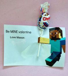 Easy Boys' Minecraft Valentines