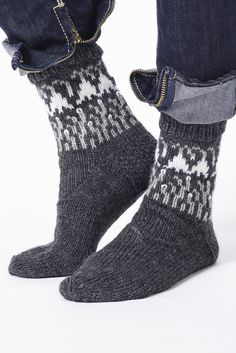 Nordic Yarns and Design since 1928 Fair Isle Knitting, Knitting Socks, Hand Knitting, Wool Socks, Long Winter, Knitting For Kids, Knit Crochet, Slippers, Pure Products