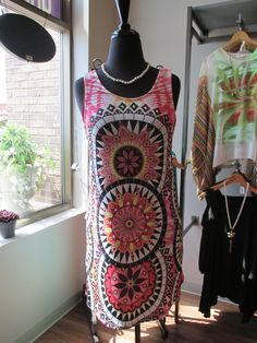 Super cute summery dress! #ootd #cute #pattern #dress #MainstreamBoutique