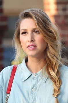 Whitney Port side braid (Vans Custom Culture Final)