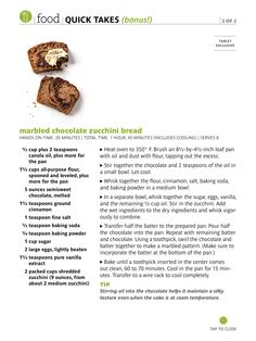 Marbled chocolate zucchini bread